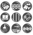 Spa and swimming pool set vector image vector image