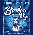 stylish poster for advertising barbershop vector image