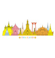 thailand architecture landmarks skyline vector image vector image