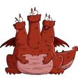 three headed dragon vector image vector image