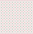 tiny abstract floral geometric pattern in pastel vector image vector image