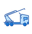 truck crane line icon vector image vector image