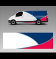 van decal wrap design for company branding vector image vector image