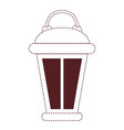 vintage lantern in brown dotted silhouette on vector image vector image