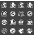 White tire emblems or badges vector image