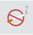 world no tobacco day concept stop smoking vector image vector image