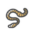 worm insect earthworm icon cartoon vector image