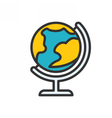Globe Outline Icon vector image