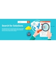 Search for solutions infographics vector image
