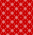Red seamless snowflake pattern vector image
