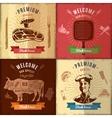 Steak House Emblem Design vector image