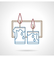 thin color line candles icon vector image