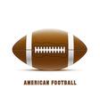 american football realistic theme eps 10 vector image vector image