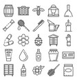 apiculture icon set outline style vector image vector image