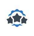 award star icon vector image vector image