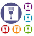 bar code scanner icons set vector image vector image