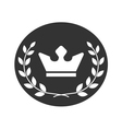 Best award label Laurel wreath and crown success vector image vector image