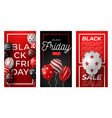 black friday vertical banner for stories set of vector image