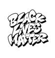 black lives matter font in graffiti style vector image