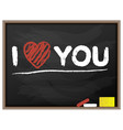 blackboard i love you valentine vector image