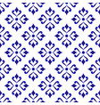 blue and white flower pattern vector image vector image