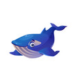 blue whale isolated cachalot cartoon animal mascot vector image