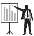 businessman making a presentation vector image vector image
