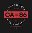 california los angeles t-shirt design athletic vector image vector image