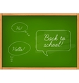 Class chalkboard vector image