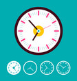 clock set on blue background time icons vector image vector image