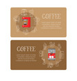 coffee equipment banners vector image vector image