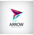colorful abstract logo arrow logo Web vector image vector image