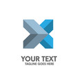 creative letter x logo vector image
