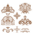 decorative element henna style collection vector image vector image