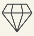 diamond line icon brilliant vector image