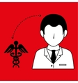 doctor with symbol medical isolated icon design vector image