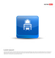 dressing table icon - 3d blue button vector image