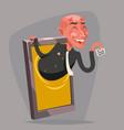 evil devil businessman demon agent online mobile vector image
