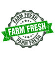 farm fresh stamp sign seal vector image vector image
