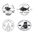 Fishing emblems labels elements logos icons set vector image