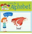 Flashcard letter B is for beef vector image vector image