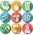 Flat colored icons collection for paintball vector image vector image