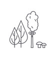 forest trees thin line icon concept forest trees vector image