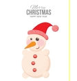 Funny snowman on holiday cards vector image vector image