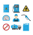 gas station flat design icon vector image vector image