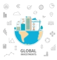Global Investment concept vector image vector image