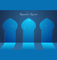 graphic of a mosque windows vector image vector image