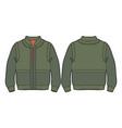 green bomber jacket vector image
