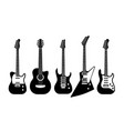 guitars black and white acoustic and electric vector image vector image