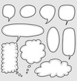 hand drawn set speech bubbles vector image